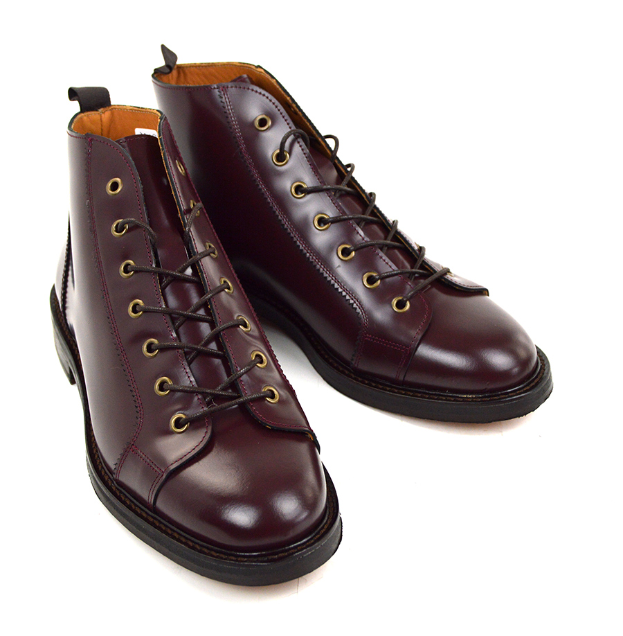 bd82c8bf6db Oxblood Cherry Monkey Boots Version 3 - Leather Sole