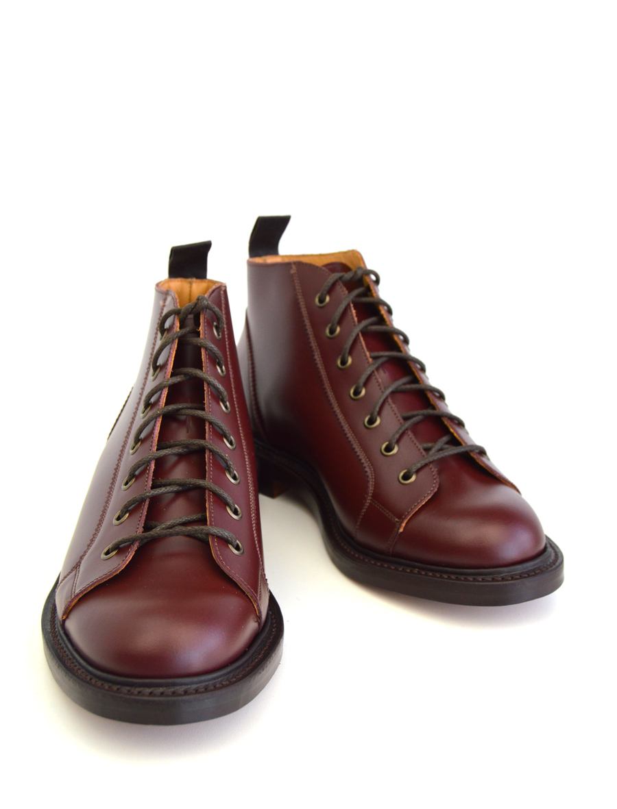 oxblood monkey boots version 2 leather sole mod shoes