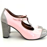 modshoes-pink-and-grey-dusty-ladies-t-bar-shoe-checker-heel-01