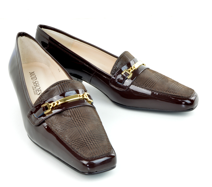 0ff1bb88c800 The Jackie K – Chocolate Brown Patent Leather   Prince Of Wales ...