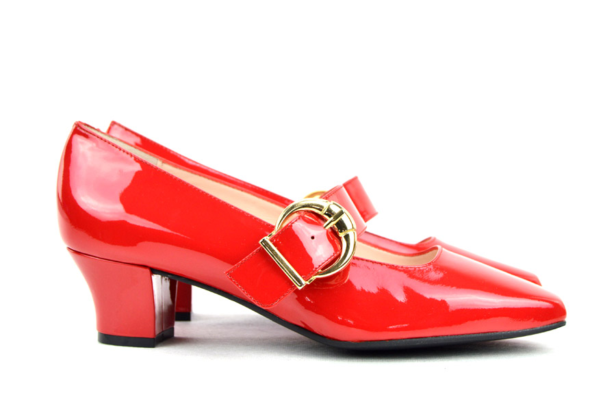 d8a05629b8b The Lola In Red Patent Leather - Mary Jane 60s Style Ladies Shoes By  Modshoes