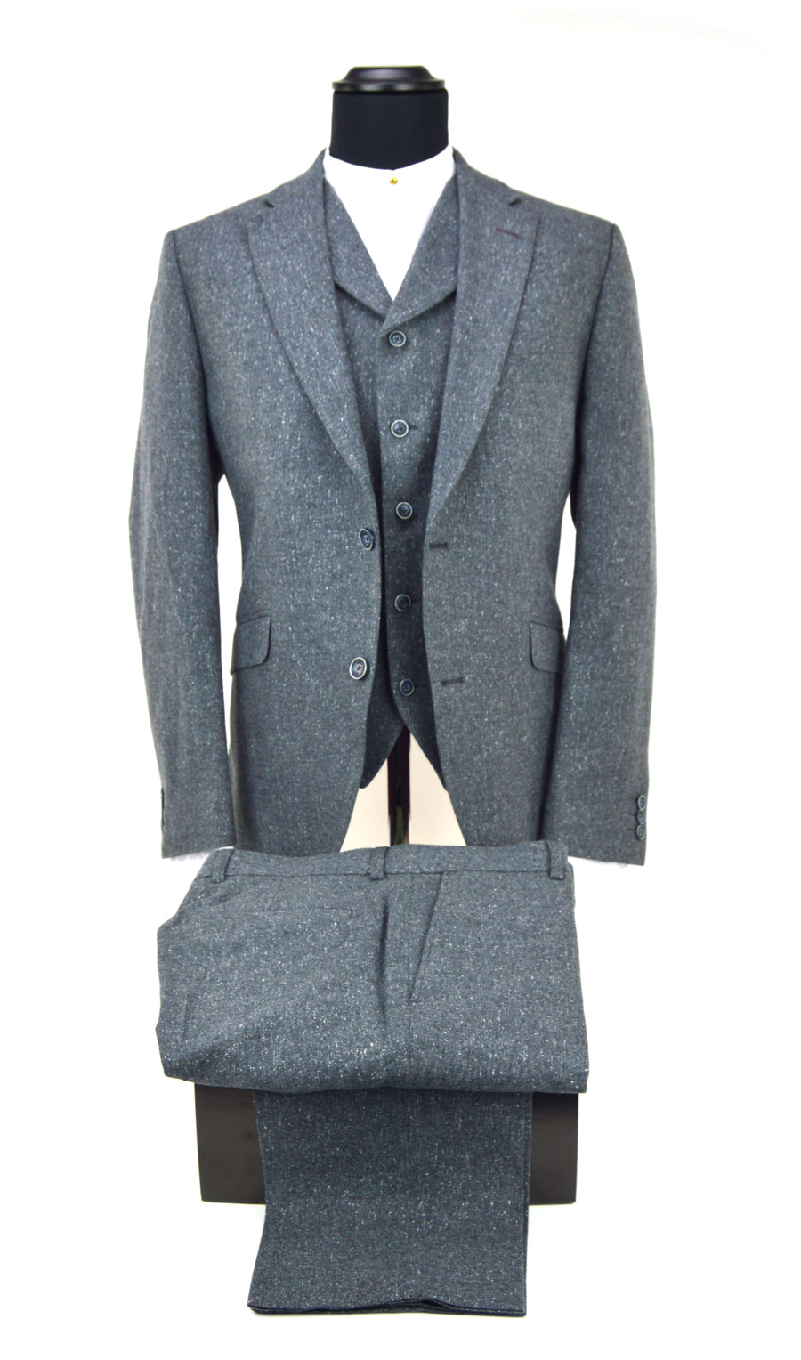 Grey 3 Piece Suit- Peaky Blinders Inspired – Mod Shoes