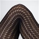 Modshoes ladies vintage retro 60s 70s Tights dark plum 1293_Black_CU
