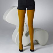 Modshoes ladies vintage retro style tights_cable_mustardB