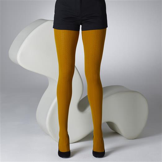 2f41a25df Mustard Cable Pattern Tights – ladies vintage retro 60s – 70s style ...