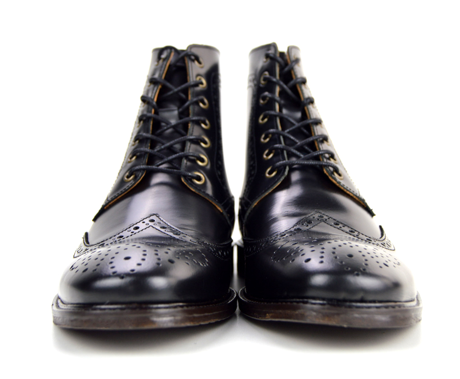 The Shelby – Black Brogue Boots – Peaky