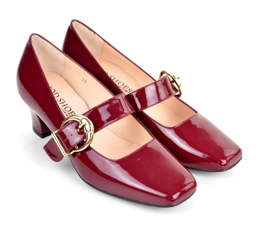 9735dcf2827 The Lola In Mulled Wine Patent Leather - Mary Jane 60s Style Ladies Shoes  By Modshoes