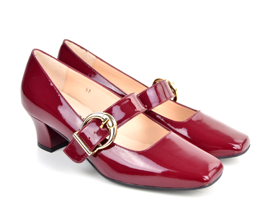 5c2d17e24d0bcb The Lola In Mulled Wine Patent Leather – Mary Jane 60s Style Ladies ...