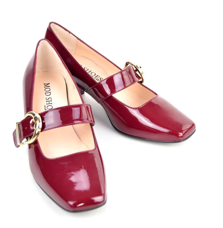 The Lola In Mulled Wine Patent Leather – Mary Jane 60s ...