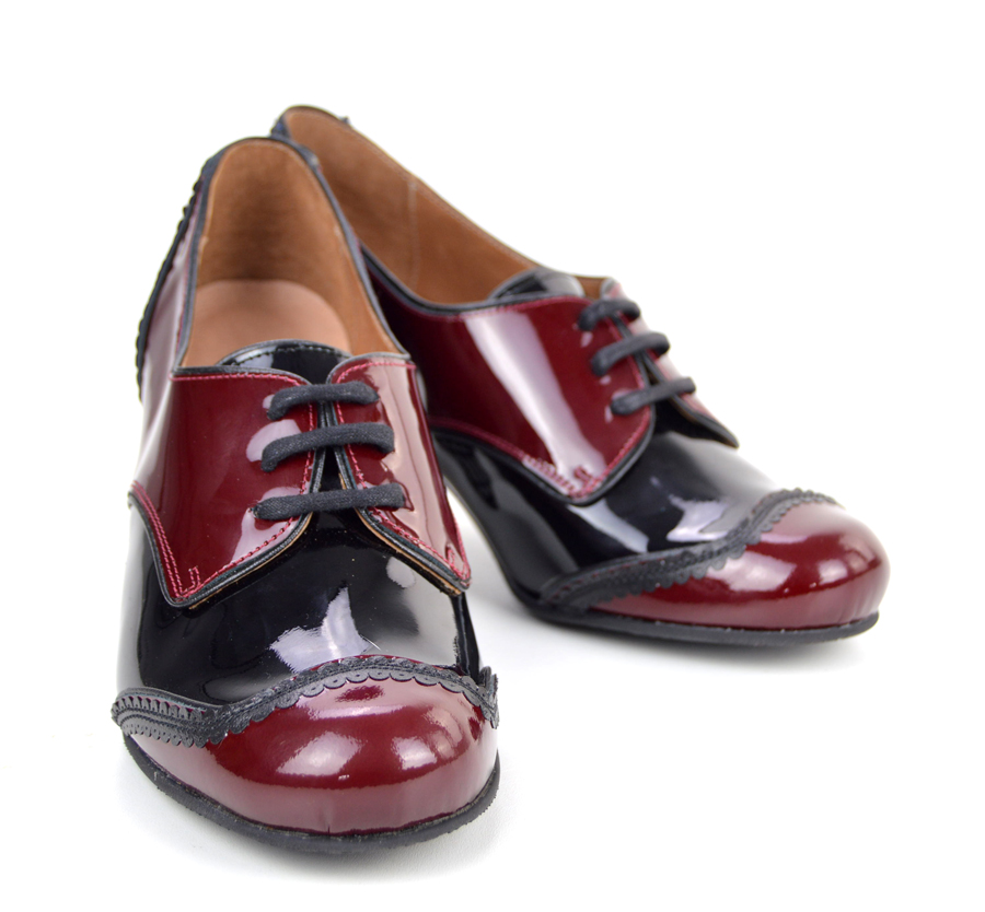 d5df34f0f863bf Sizes 2 3 4 5 Only – The Sally In Burgundy   Black – Ladies Retro ...