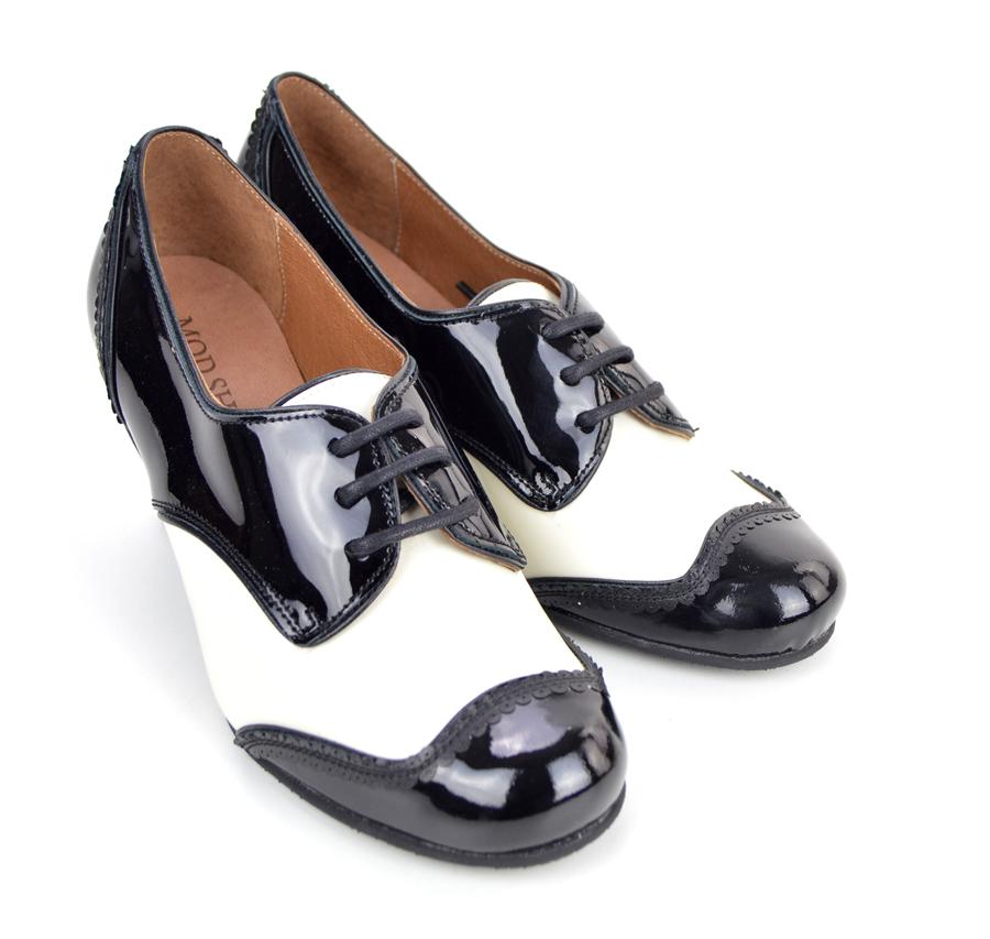 53dbe55feff963 Sizes 2 3 Only – The Sally In Black & Cream – Ladies Retro Vintage ...