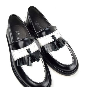 5cf30a269e8 Quick View · Ladies · Ladies Prince – Black   White Tassel Loafers – Mod Ska  Skinhead Style