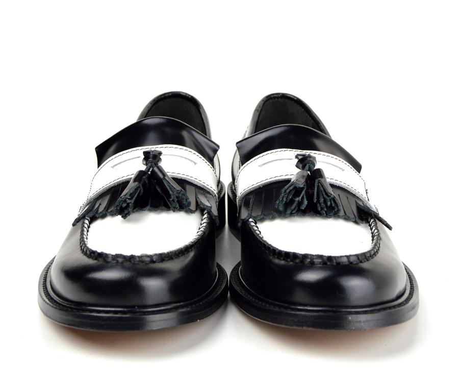 8362e2d079669 Ladies Prince – Black   White Tassel Loafers – Mod Ska Skinhead ...