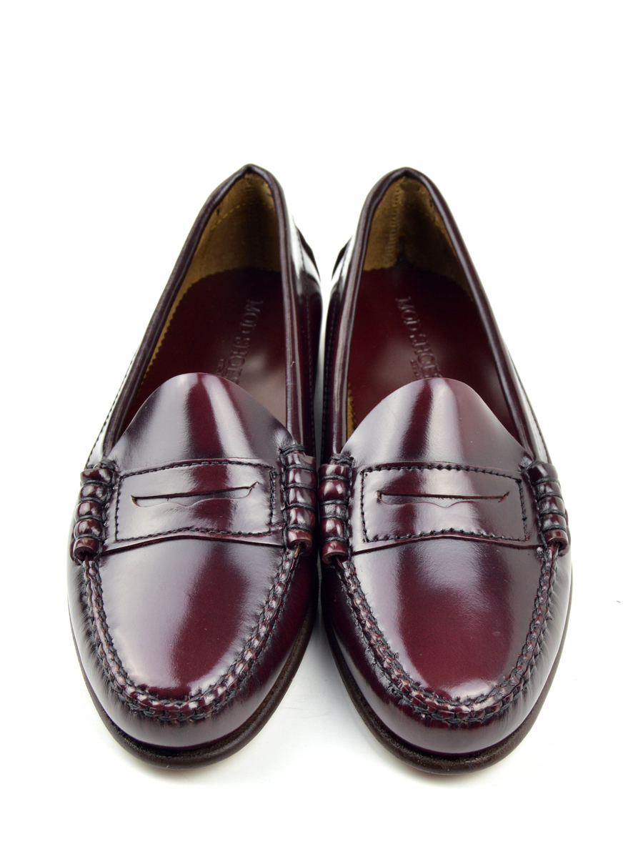 The Chantelle – Ladies All Leather Penny Loafer Oxblood ...
