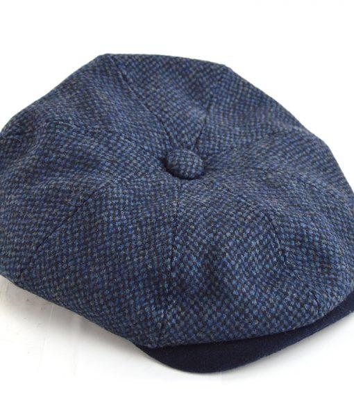 Modshoes-blue-pattern-baker-boy-hat-peaky-blinders-style