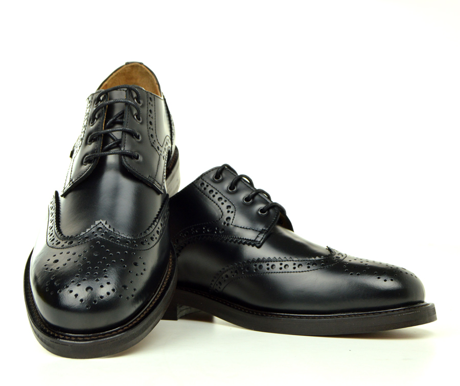 The Blake Black Leather Brogue Shoes