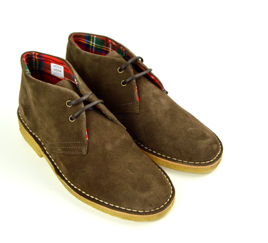 Mens Desert Boots The Desert Boot is a symbol for cultures in all corners of the globe. It's silhouette defines cool, intelligence and style for decades to come.