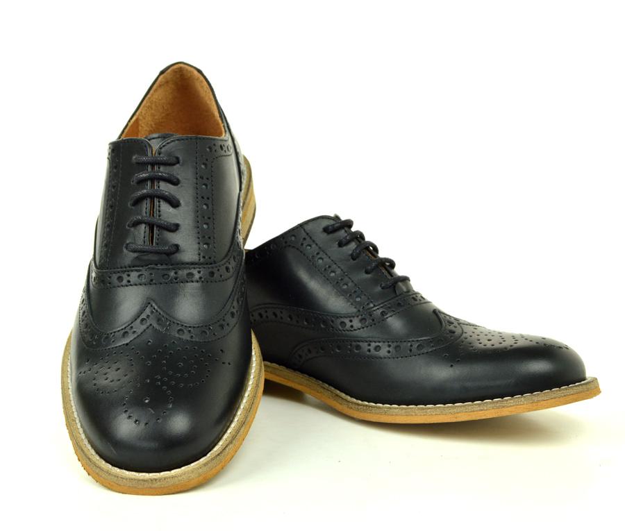 9501780c730 The Edie - Ladies Black Leather Brogue Shoes
