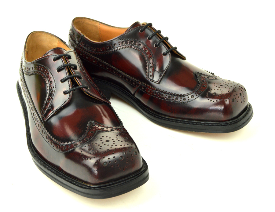 c8ad26fc The Stomper – Oxblood Brogue Northern Soul Style Shoes – Mod Shoes