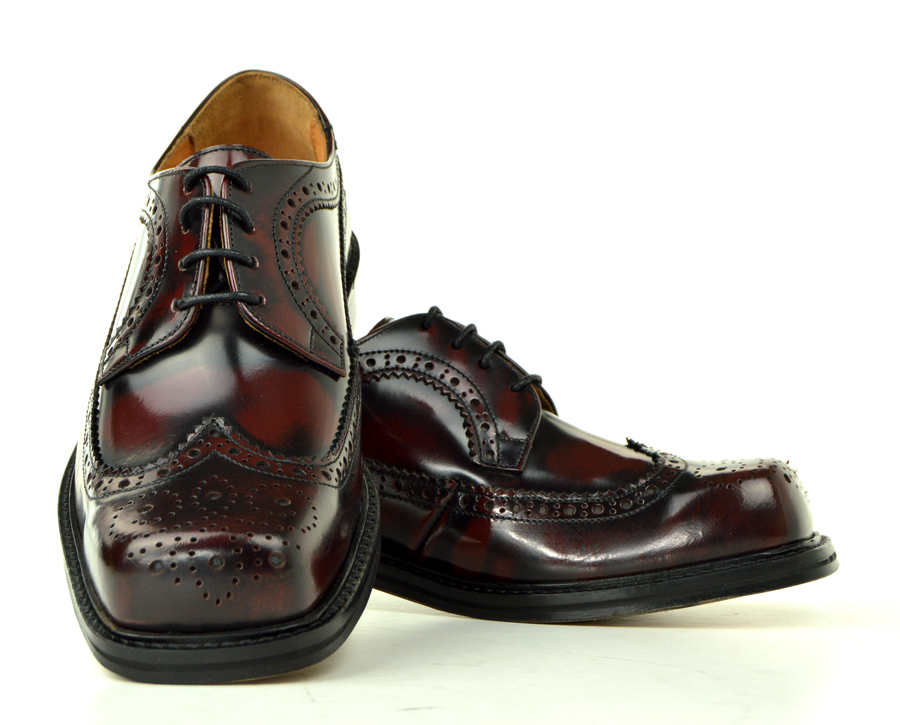 The Stomper - Ladies Oxblood Brogue Northern Soul Style Shoes