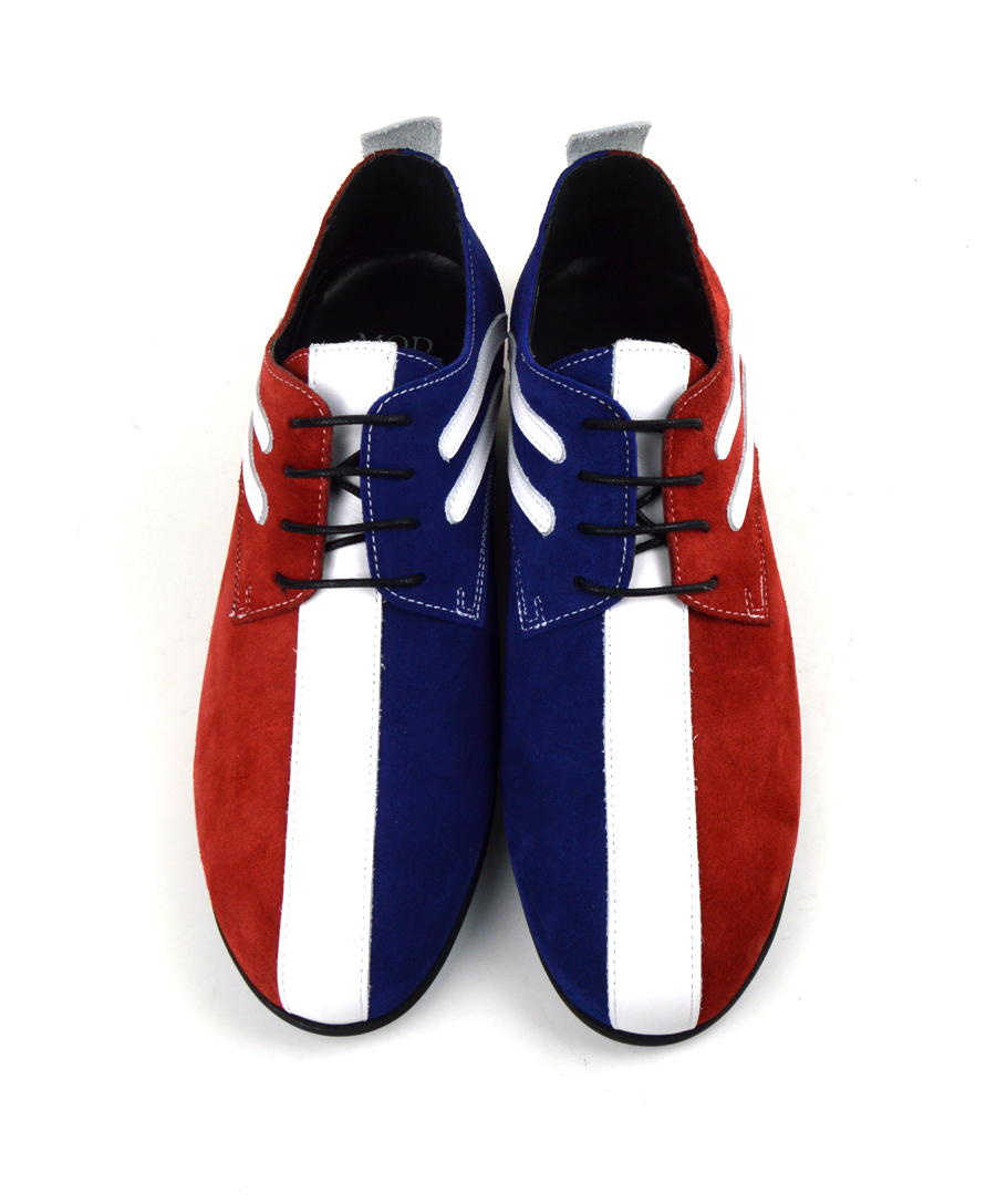 9d9322d05df8 Jam Stage Shoes – Red White Blue Badgers – By Modshoes – Mod Shoes