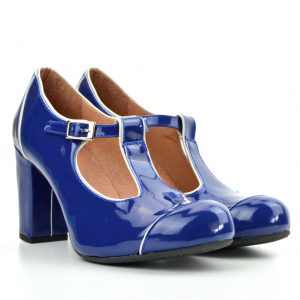 5d9cfc21c5f6f0 Quick View · Dustys · The Dusty In Blue Patent Leather- Ladies Retro T-Bar  Shoe by Modshoes