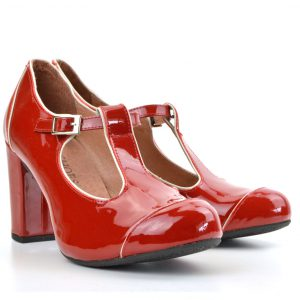 45ddd3bcf5ef78 Quick View · Dustys · The Dusty In Red Patent Leather- Ladies Retro T-Bar  Shoe by Modshoes