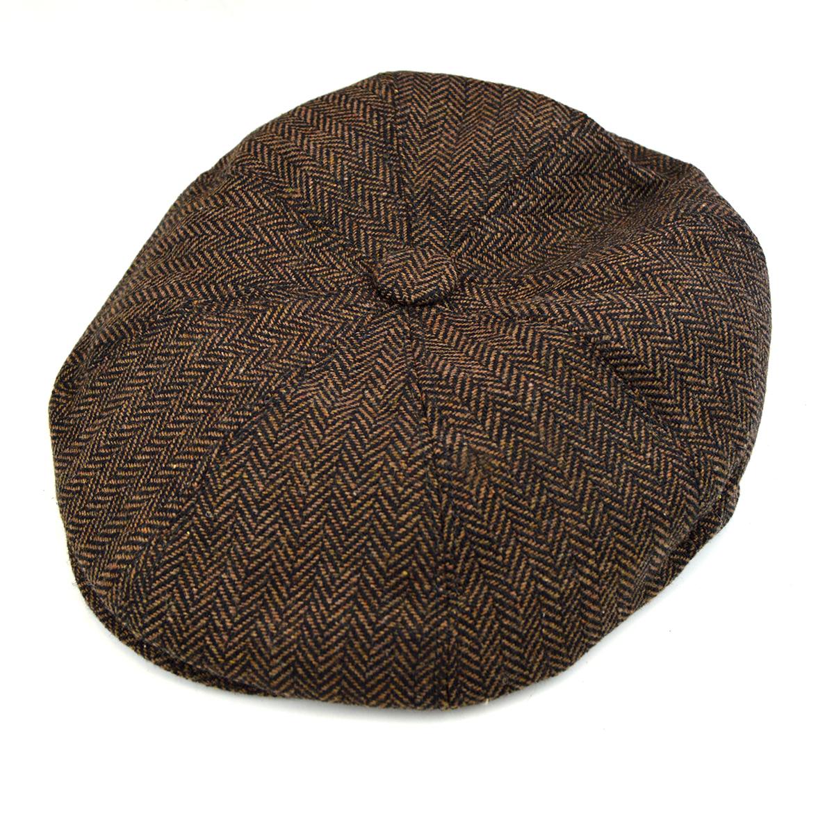 0264f5c4586 Brown Herringbone Newsboy Hat – Peaky Blinders Style – Mod Shoes