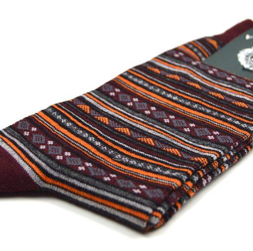 modshoes-mens-sock-burgundy-orange
