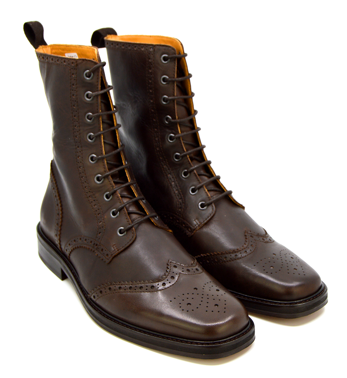 The Big Shot- Rich Brown Brogue Boots