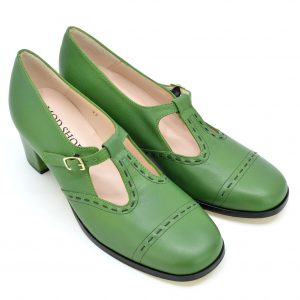 b135938da2d104 Quick View · Ladies · The Bernadette In Avocado Green Leather – Ladies  Retro T-Bar Shoe by Modshoes. £96.00. Select options
