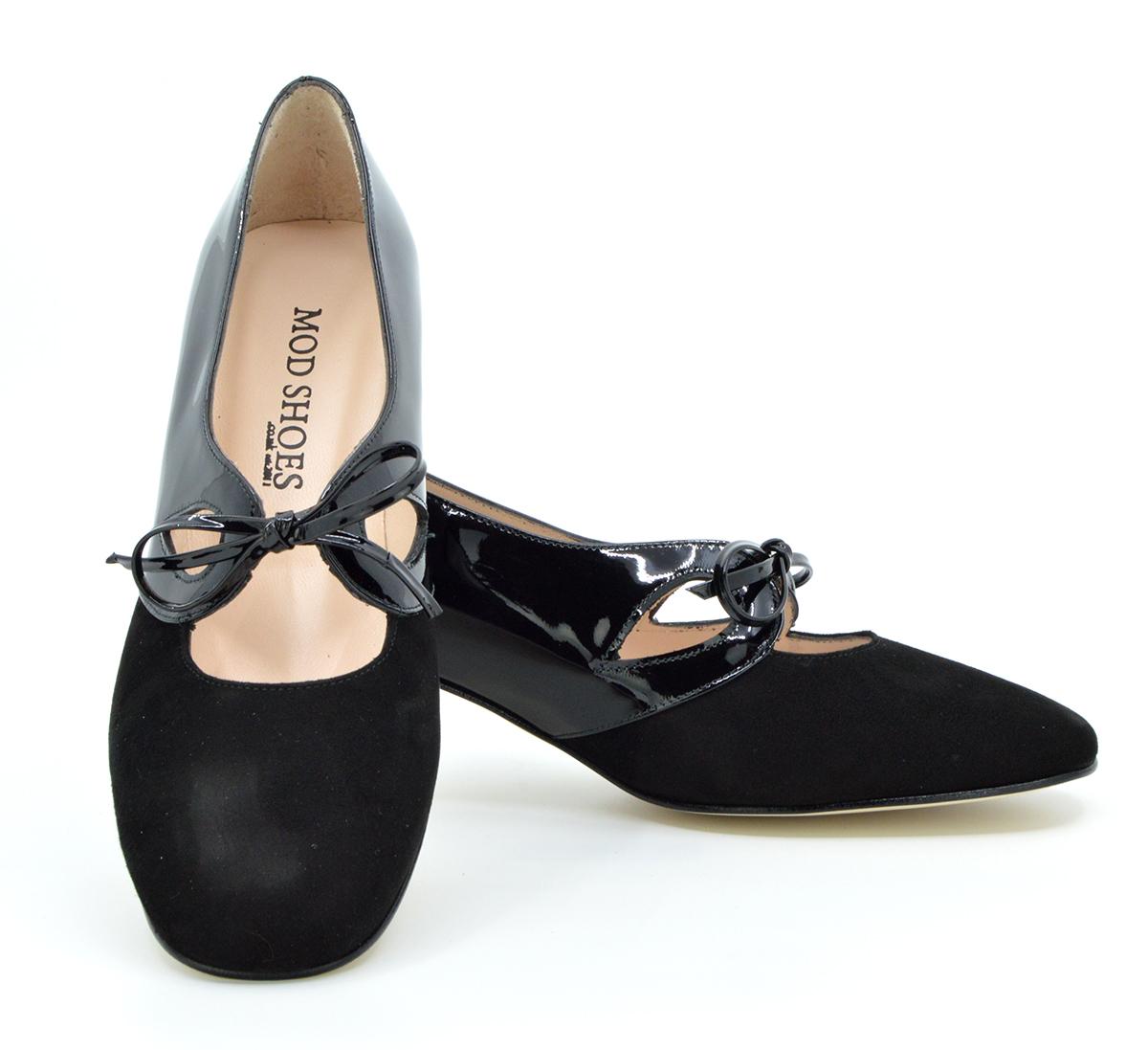 Ladies Retro T-Bar Shoe by Modshoes