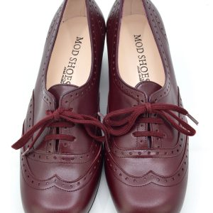 dc9efc697 Quick View · faye · The Faye Brogue In Oxblood Leather – Vintage Style Ladies  Shoes