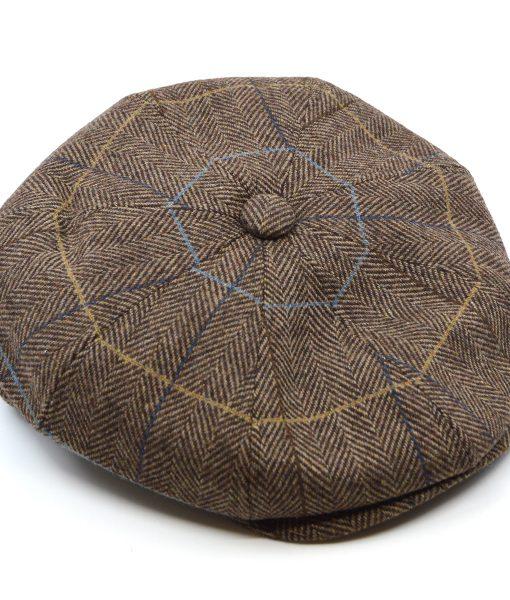modshoes-brown-herringbone-new-boy-hat-peaky-blinders-style