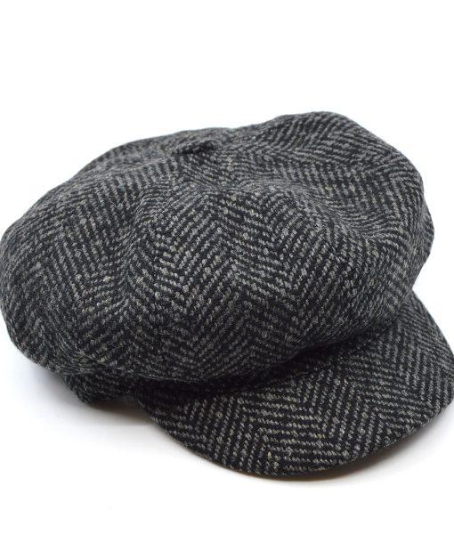 modshoes-grey-herringbone-baker-boy-hat-peaky-blinders-style