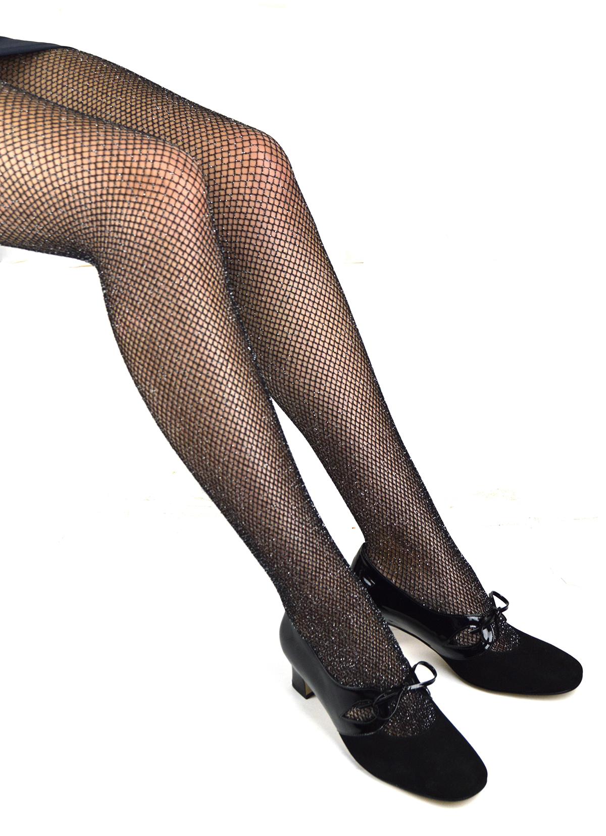 64987fa354b99 Glitter Fishnet Tights – ladies vintage retro 60s – 70s style – Mod ...