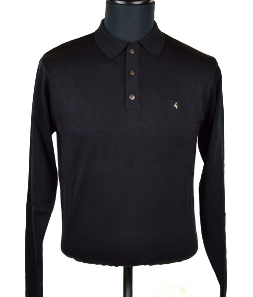 modshoes-black-long-sleeve-polo-Gabicci-01