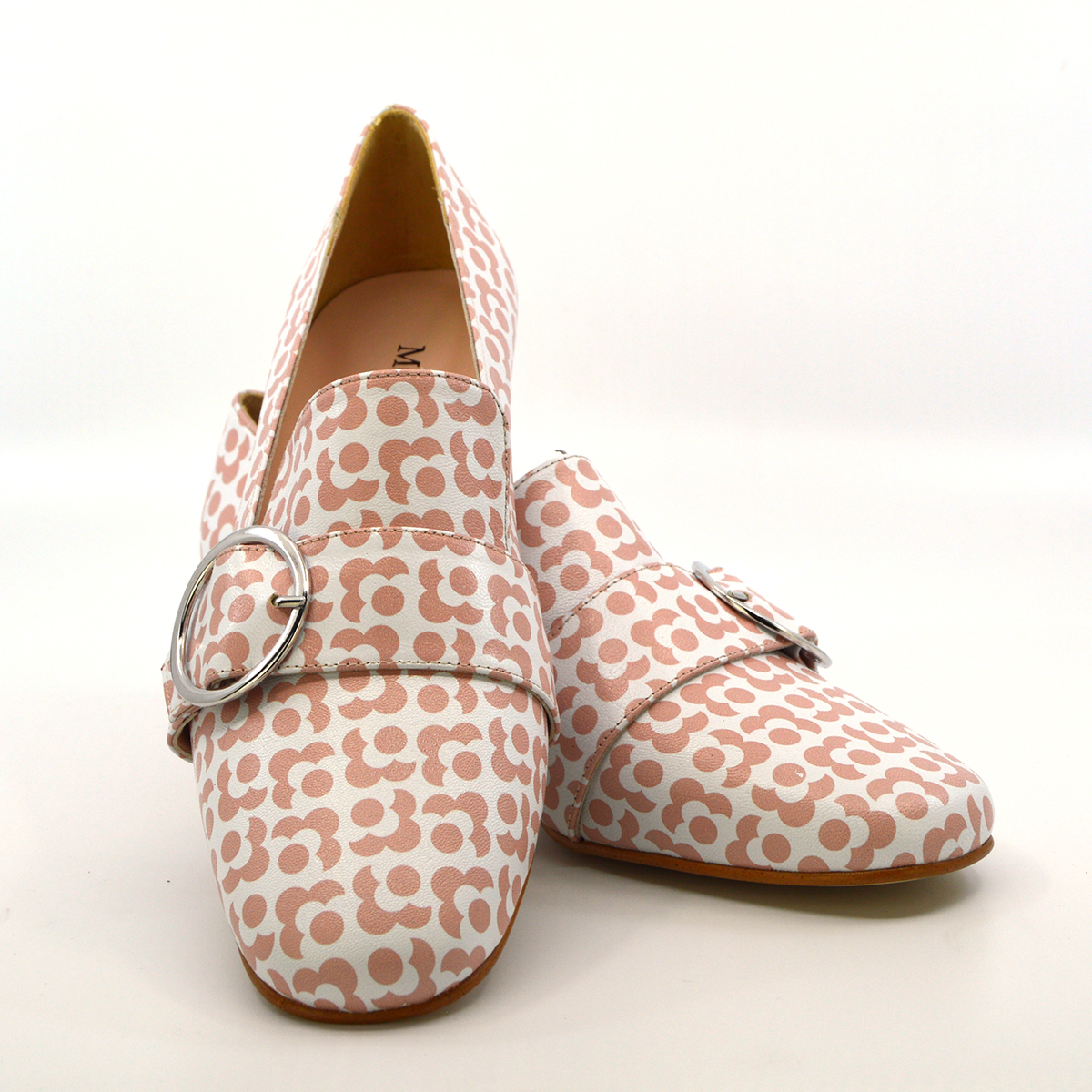 9c604c4143b The Marsha In Pink Geometric Flower Pattern – Mod Ladies Buckle ...