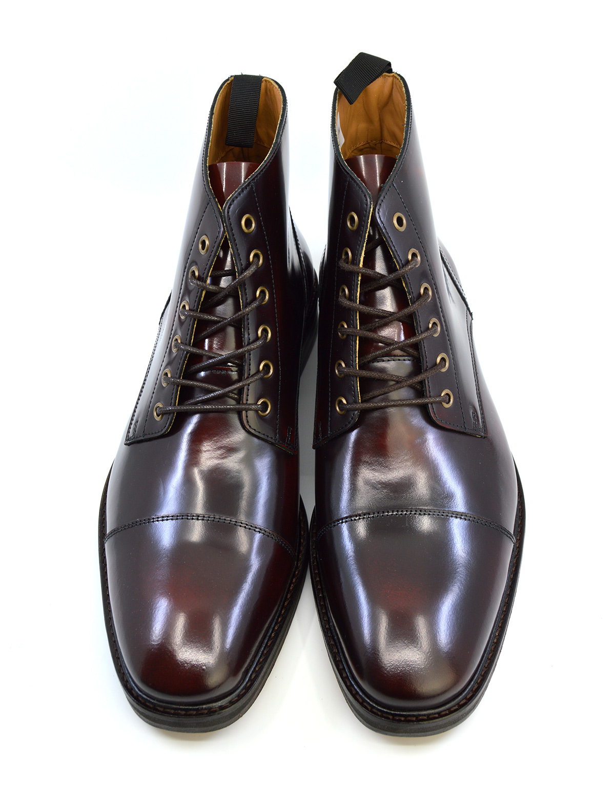 The Arthur Oxblood Capped Derby Boots Peaky Blinders Inspired Mod Shoes