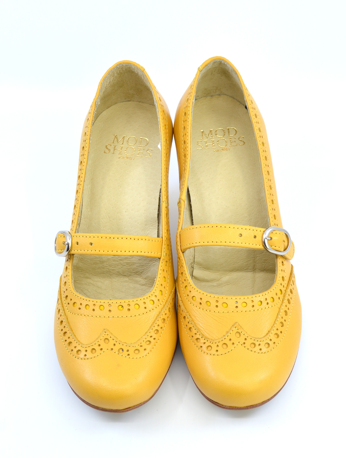 The Penny – Mustard Leather Mary Jane