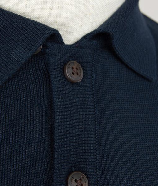 d252c915476 Gabicci Navy Blue Jackson Short Sleeve Polo Top