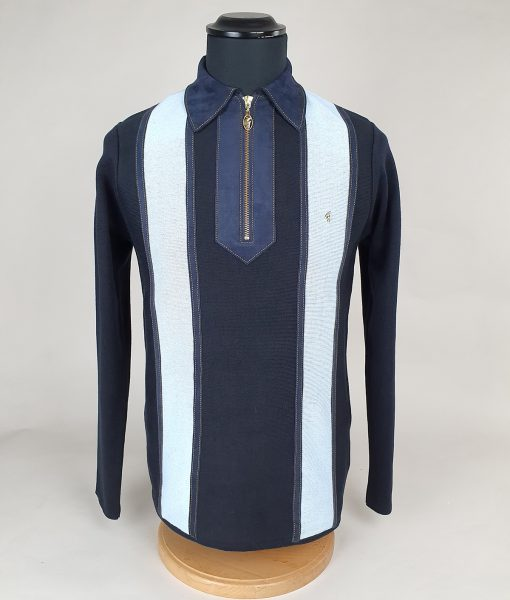 Modshoes-Gabicci-3-shade-of-blue-Stripe-with-false-suede-Long-Sleeve-Top-01