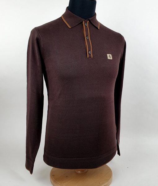 Modshoes-Gabicci-cocoa-honeycomb-tipped-Long-Sleeve-Top-01