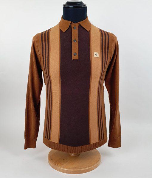 Modshoes-Gabicci-toffee-cocoa-caramel-Stripe-Long-Sleeve-Top-01