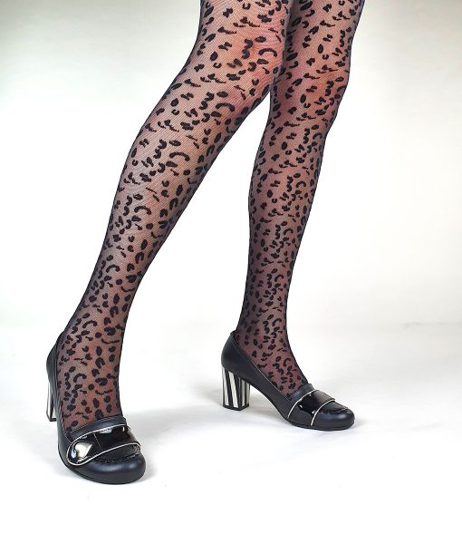 010-Modshoes-Ladies-vintage-retro-style-50s-60s-tights-leopard-mesh-black-02
