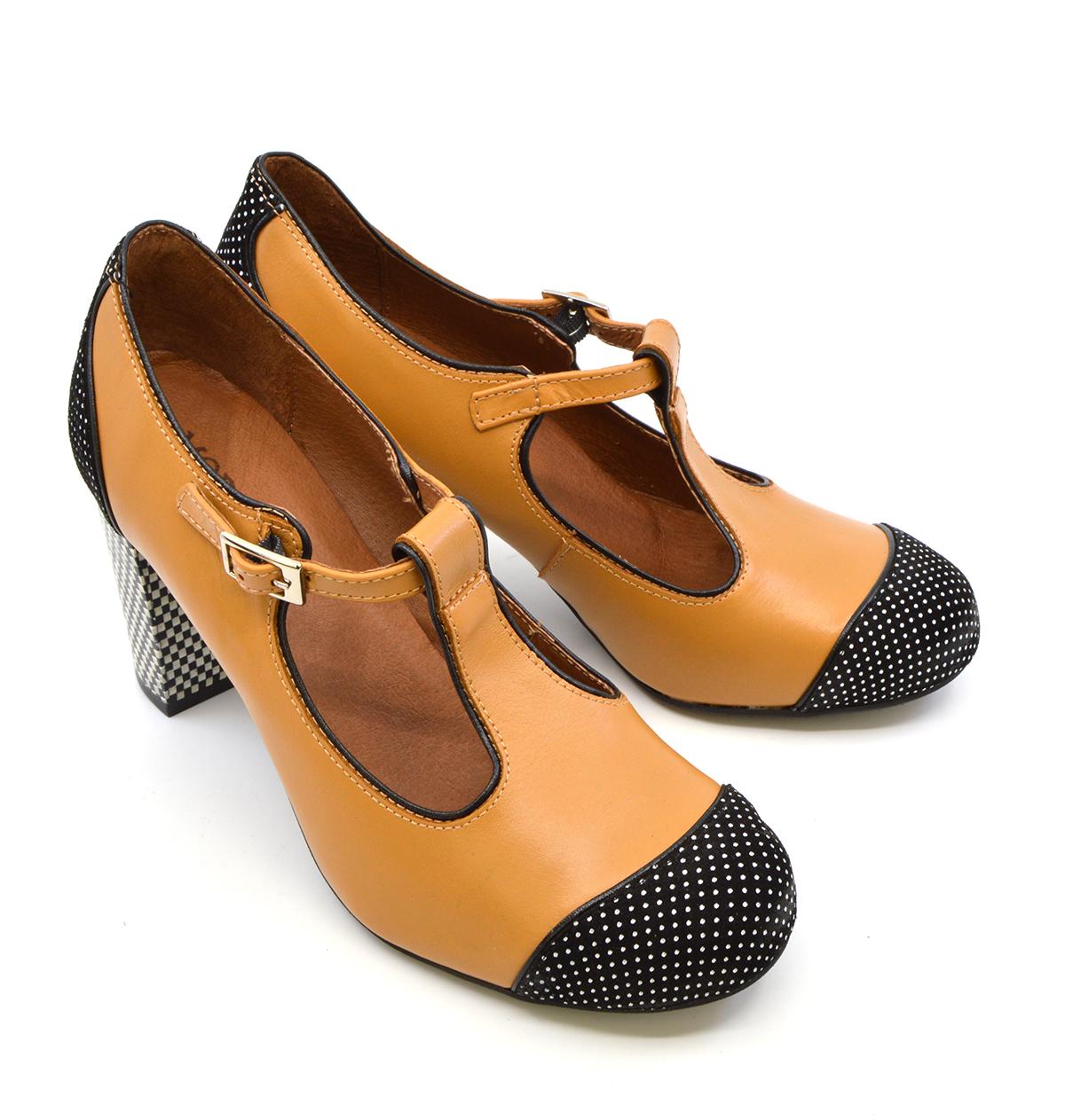 Ladies Retro T-Bar Shoe by Mod Shoes