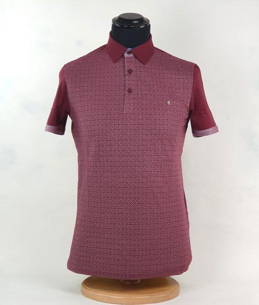 modshoes-gabicci-geometric-pattern-burgundy-polo-top-01