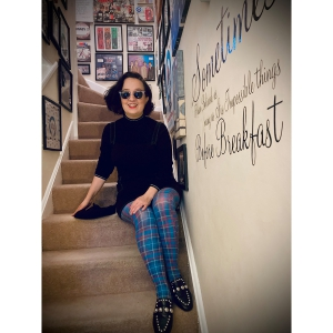 Teal Tartan Tights – ladies vintage retro 60s – 70s style