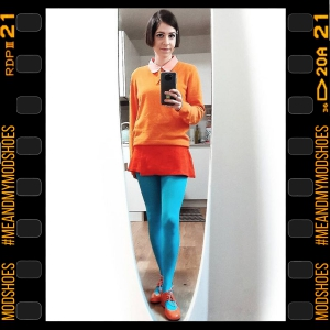 The Vegan Marianne In Clementine- Ladies Retro Shoes by Mod Shoes