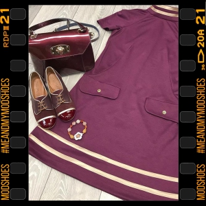 The Lottie in Burgundy – Ladies Retro Shoe by Mod Shoes